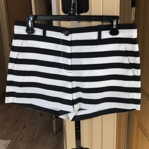 Gap Black and White Stripped Shorts